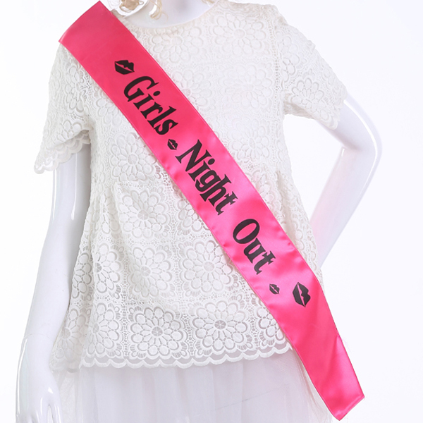 12 pcs of Wedding party supplies Girls night out sash white bride to be bachelorette Hens night events party supplies mariage 4