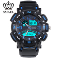 SMAEL Brand Watches Sport  Analog Digital-Watch Military Army LED Clock Dual Time Display Wristwatch relogios masculino WS1327