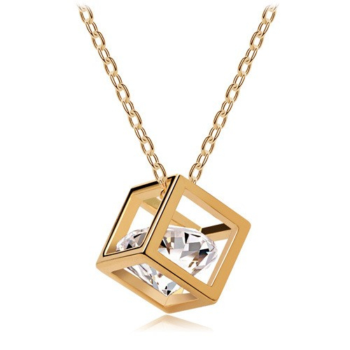 Crystal jewelry wholesale Eight cubes eight heart arrow zircon necklace pendant stereo love - 135