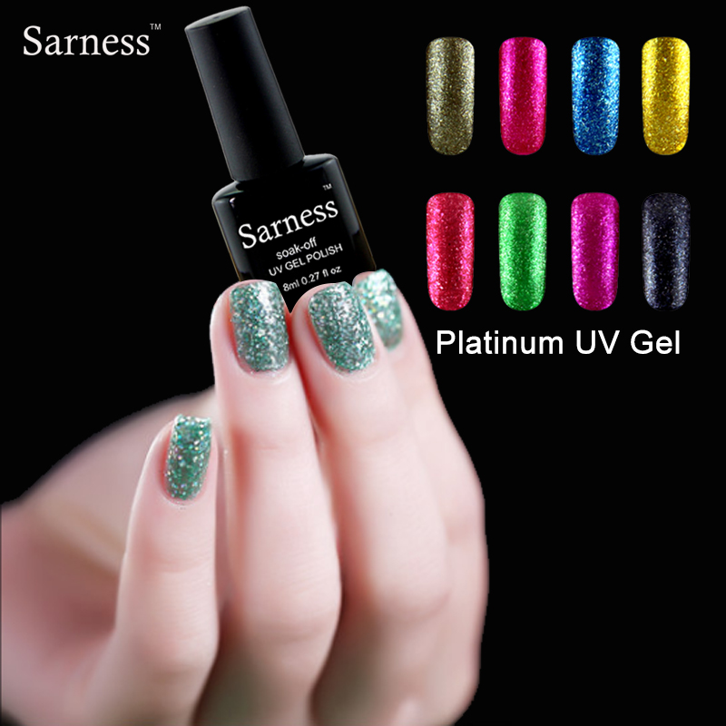sarness glitter platinum gel polish