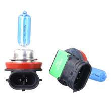 New H9 12V 65W 5500K-6000k Xenon Look Blue Diamond Light Halogen Car Bulbs Quality Headlight Lamp AAA Grade Free Shipping 2pcs