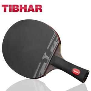 Image 1 - Tibhar Pro raquette de Tennis de Table, avec clous en caoutchouc, haute qualité, avec sac 6/7/8/9 étoiles