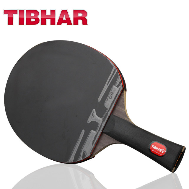 Tibhar פרו טניס שולחן מחבט להב גומי פצעונים פינג פונג מחבטי באיכות גבוהה עם תיק 6/7/ 8/9 כוכבים