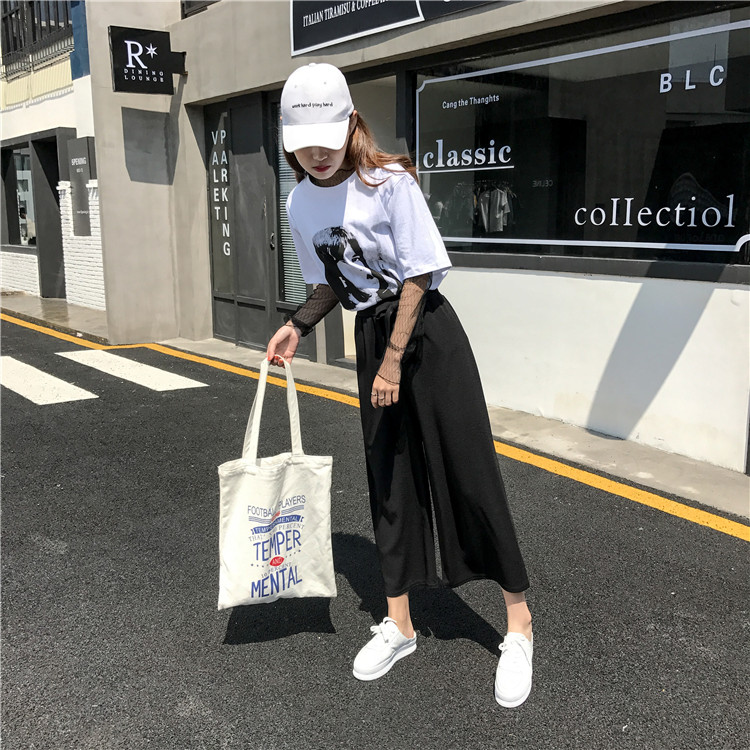 19 Women Casual Loose Wide Leg Pant Womens Elegant Fashion Preppy Style Trousers Female Pure Color Females New Palazzo Pants 28