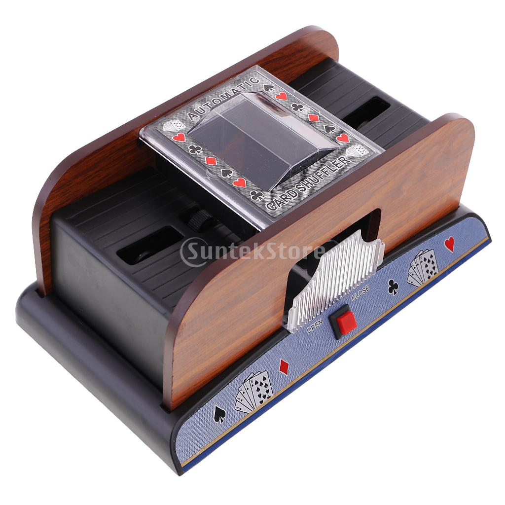 Automatic Poker Casino Card Shuffler Battery Operated Two Deck for Card Game