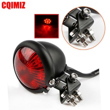 Red 12V LED Black Adjustable Cafe Racer Style Stop Tail Light Motorcycle Taillight For Chopper Bobber
