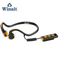 Winait sports digital bone conduction bluetooth headset/wireless headset, music player free shipping