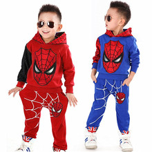 New year Spiderman Baby Boys Clothing sets Sport suit Christmas boys Clothes Autumn winter spider man cosplay clothes