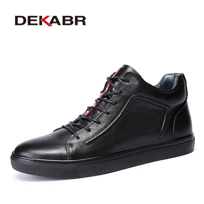 DEKABR Handmade Men Boots Big Size 36 48 Fashion Style Men Casual Shoes Autumn Winter High