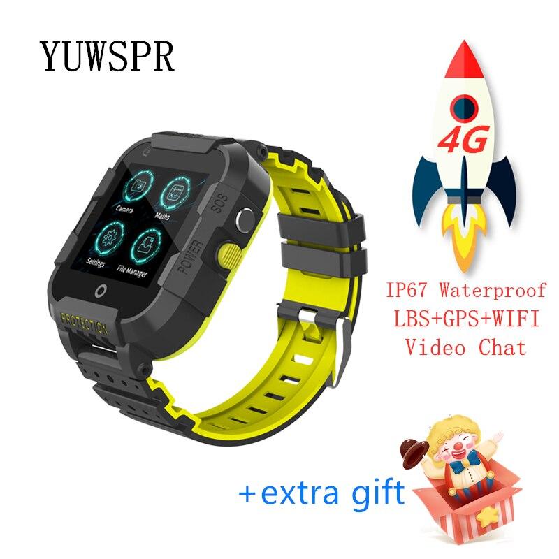 GPS tracker 4G smart watch waterproof Video Call quad core processor WiFi Hotspot GPS LBS WIFI