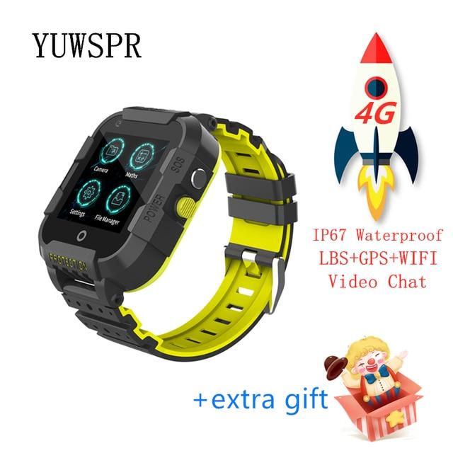 Kids GPS tracker 4G smart watch Video Call quad-core processor WiFi Hotspot GPS LBS WIFI Location Tracking child clock DF39 1PCS