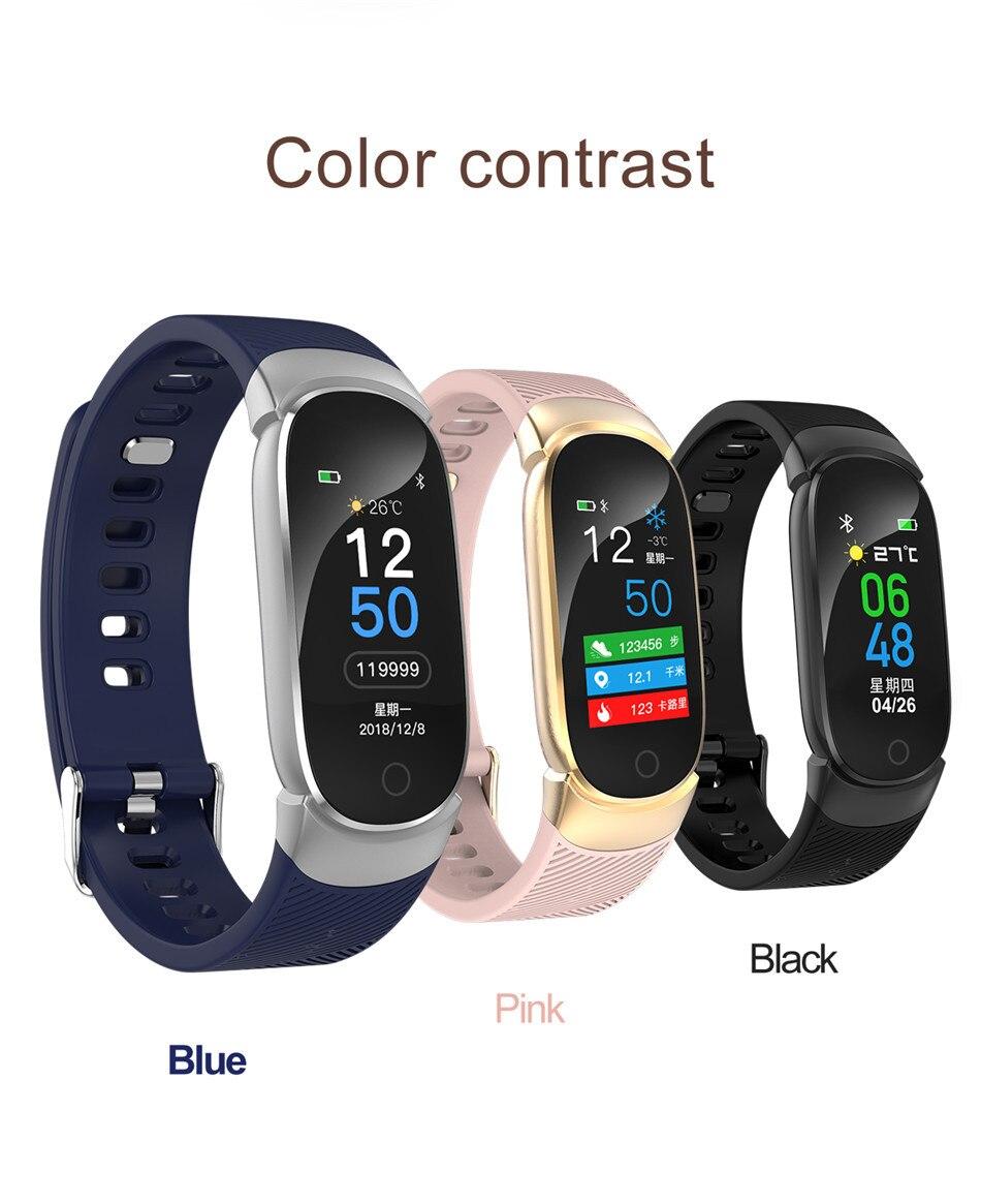 HTB1N4NBazDuK1Rjy1zjq6zraFXa6 LIGE Sport Smart Bracelet Women Men Waterproof Smart Watch Heart Rate Blood Pressure Pedometer Smart Wristband For Android iOS