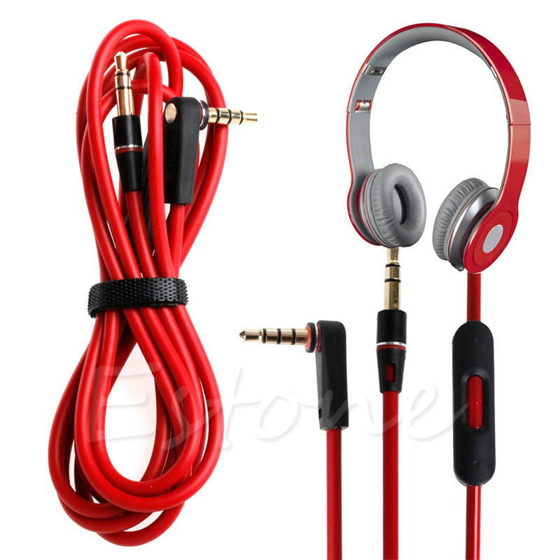 Replacement Audio Control Talk Cable Wire Cord for Beats Solo HD Studio Pro Mixr original replacement red aux auxiliary pro and detox edition cable wire cord for monster solo beats studio headphones by dr dre solo studio solohd headphones cable discontinued by manufacturer