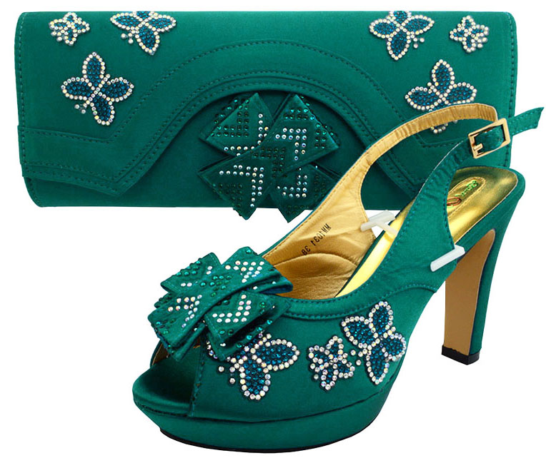 Newest 2017 design women sandal shoes high heel 4.6 inches italian shoes with matching bags teal green color big size SB8090 aidocrystal luxury handmade crystal sunflower high heel women italian shoes with matching bags