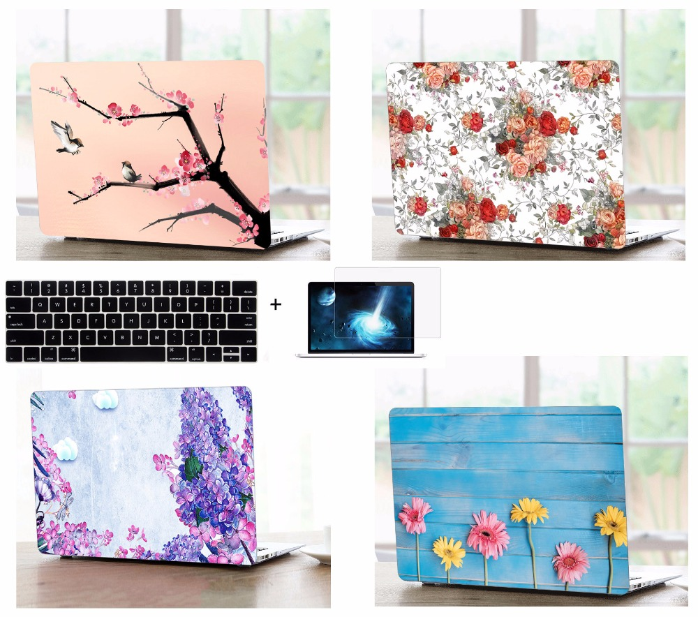 Laptop Tablet Shell Case Keyboard Cover LCD Film Screen Protector Set For font b Apple b