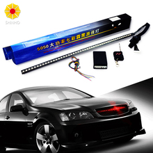 56CM 7 color RGB 147 Modes Strobe Scanner Strip Wireless Remote Control Super bright 12V 5050 48 LED Knight Rider Warning Light