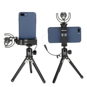 Image 2 - Ulanzi Iron Man ST 2s aluminiowy smartfon statyw do montażu na statywie Adapter pionowy do iPhone X 8plus Samsung mobilny statyw