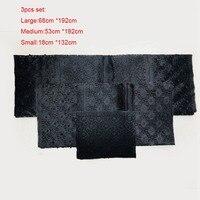 Sanyan/ Black Tan Aso Oke 3pcs Set O'jawu Aso Oke Fabric with Stones For Crafts Gele Headgear and Ipele Shoulder LXLAS 5 6