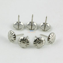 200 шт. 11x16 мм серебро цветок обивочные гвозди, гвозди