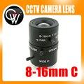 8-16mm Vari-focal da LENTE de Montagem C lente Mega Pixel HD Industrial-Focal Manual Iris CCTV Lente Para Câmera de CCTV