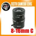 8 Mega Píxeles de ALTA DEFINICIÓN de 16mm C Montura del objetivo CCTV Iris Manual lente Vari-Focal Industrial Para CCTV Cámara