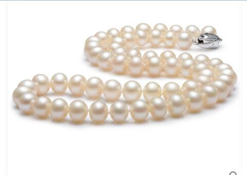 Noble femmes cadeau bijoux fermoir en argent fin jewe 11-11.5mm AAAA haute qualité naturel collier de perles d'eau douce pour