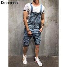 Сексуальные рваные короткие джинсовые комбинезоны, мужские повседневные уличные потертые комбинезоны в стиле хип-хоп, джинсовые шорты на подтяжках Y