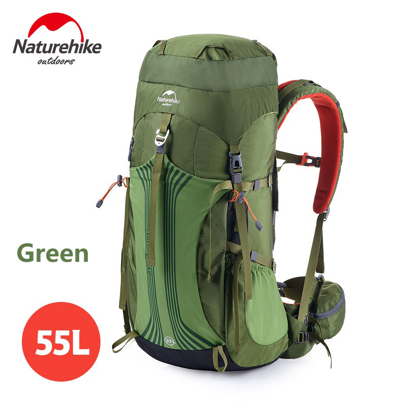 Naturehike Unisex Large Capacity Outdoor Sports Backpack Breathable Travel Trekking Rucksack NH16Y020-Q/NH16Y065-Q