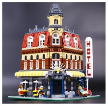 2016 New 2133Pcs LEPIN 15002 Creators Cafe Corner Model Building Kits Minifigure Blocks Kid Toy Gift brinquedos legeod
