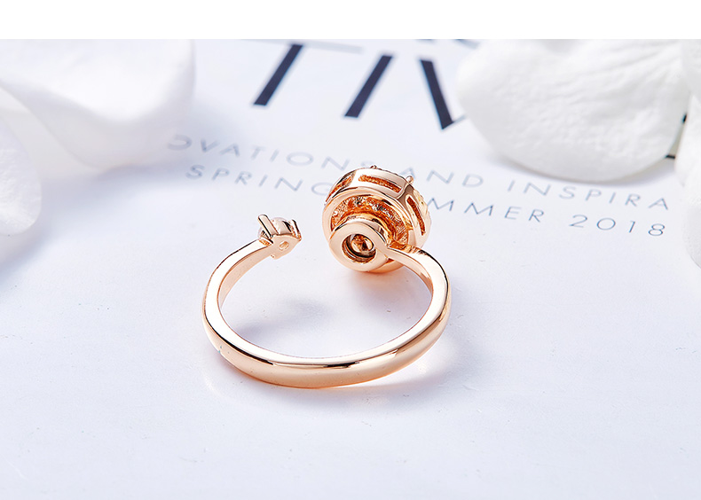 Pink Crystals Rose Gold Ring (12)