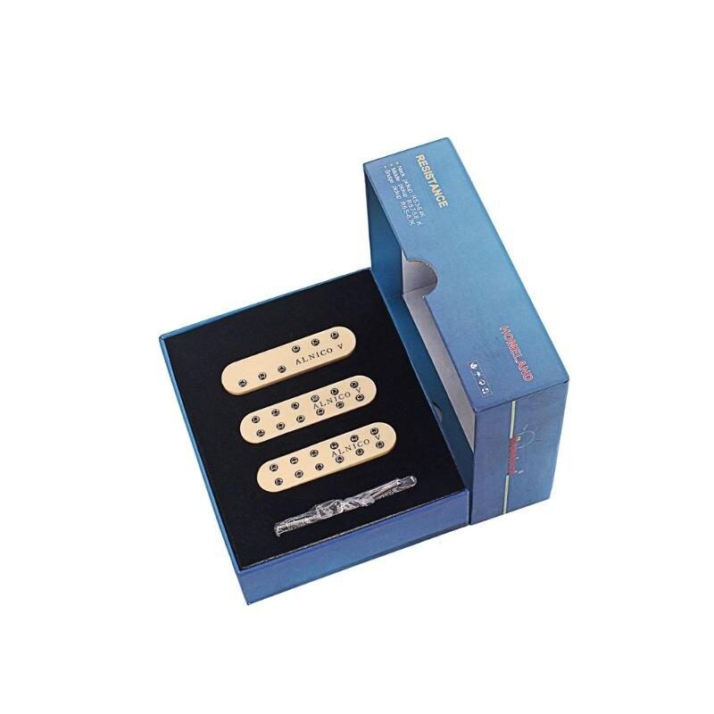 Guitar Pickup Mini Humbucker For ST SSS Size 6 String Neck Middle Bridge Alnico V Milk
