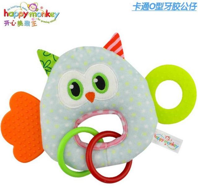 Baby Infant Cartoon Animal Giraffe Fish Handle Rattles Soft Plush Safety Teether Toys Teeth Care Doll For Kid 20%OFF 3