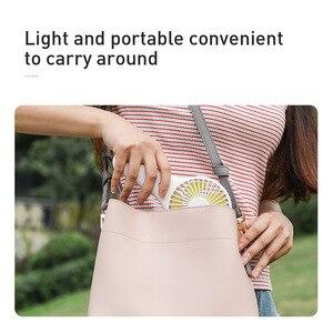 Image 5 - Baseus Mini USB Fan taşınabilir el Ventiladors şarj edilebilir dahili pil 1800mAH kullanışlı hava soğutma fanı açık ev için