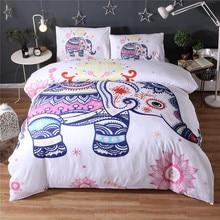 Cute little elephant Bedding Set 3pcs duvet cover and pillow case Indian God Ganesha 200*200 /228 * 228 / 230*260