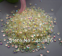 Commercio all'ingrosso grande quantità SS30 6mm 10000 pz Crystal white Magic di colore AB strass in resina gelatina bastone Mobile trapano Nail Art0026 #