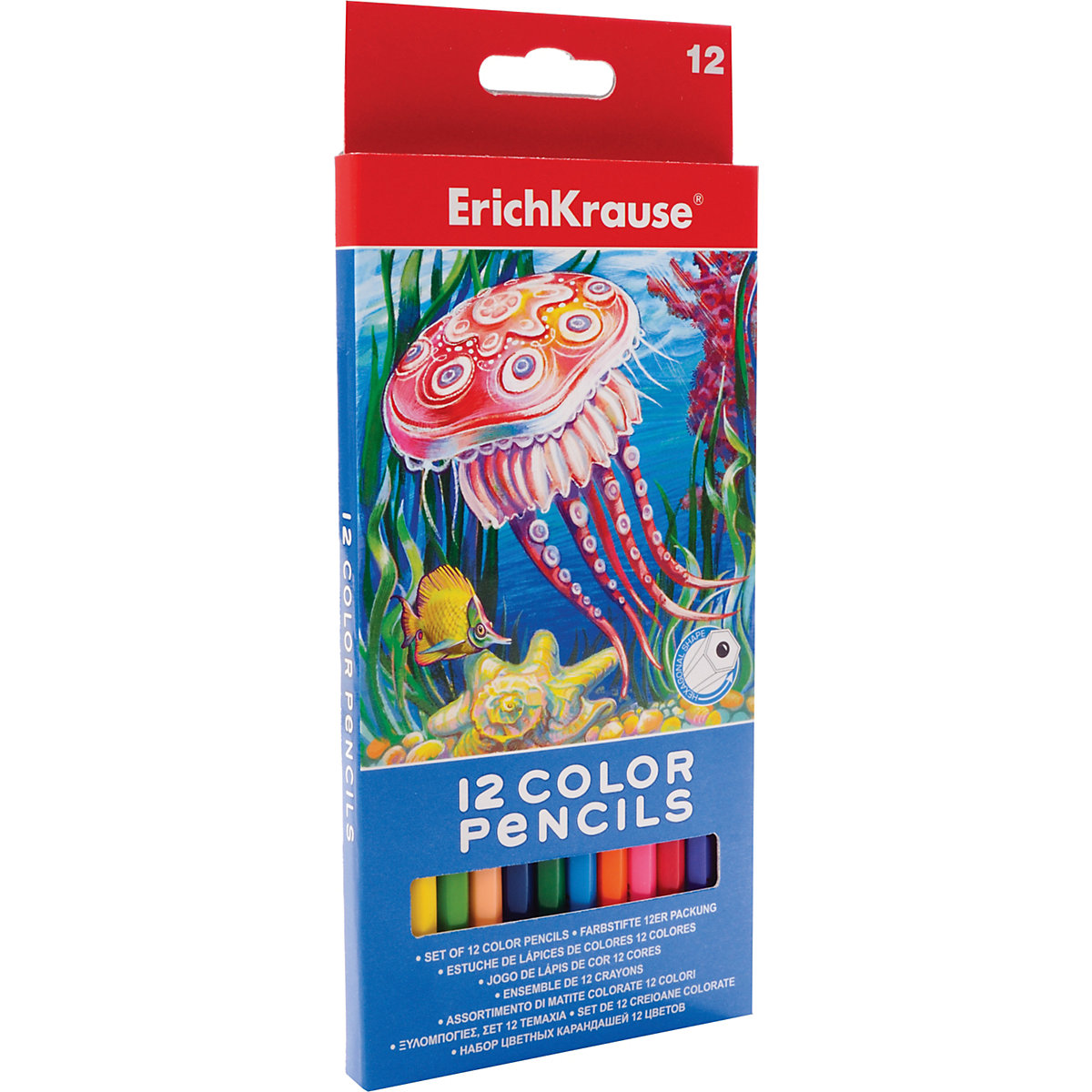 ERICHKRAUSE Wooden Colored Pencils 5409230 colored pencil for boys and girls children sets MTpromo