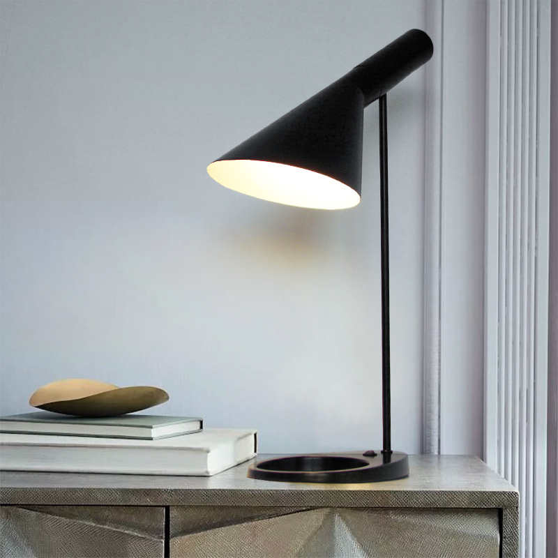 Us 61 13 31 Off Replica Louis Modern Aj Desk Lamp Arne Jacobsen Table Lamps For Bedroom Study Stand Light Fixtures Home Loft Decor Luminaire E27 In