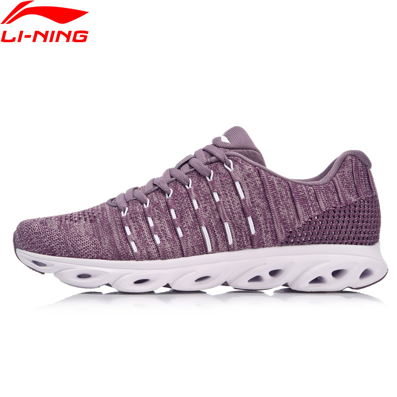 Li-Ning Women LN ARC Cushion Running Shoes Wearable Breathable Sneaker Mono Yarn Light LiNing Li Ning Sport Shoes ARHN046 XYP634
