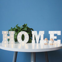 E Shape DIY LED Night Lights 3D Heart Shape Baby Kids Home Bedroom Decoration Kids Gift Night Lamp Letters Nightlight