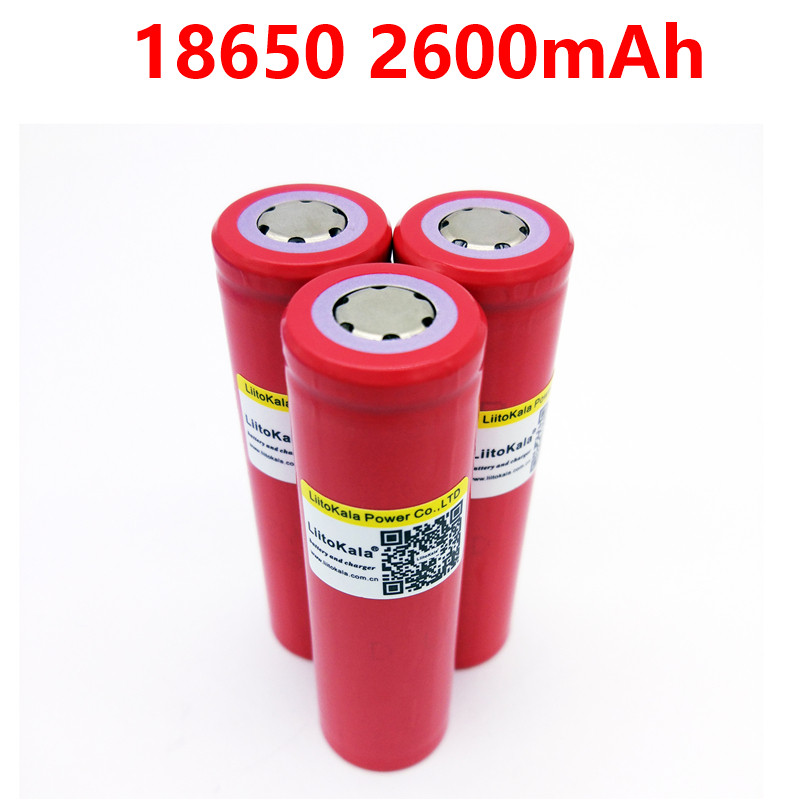 New 100% Original LiitoKala for Sanyo 18650 2600mAh Li-ion Rechargeable Battery The Flashlight Batteries brand new kingwei light green 18650 3 7v li ion battery 1200mah rechargeable energy saving battery for flashlight