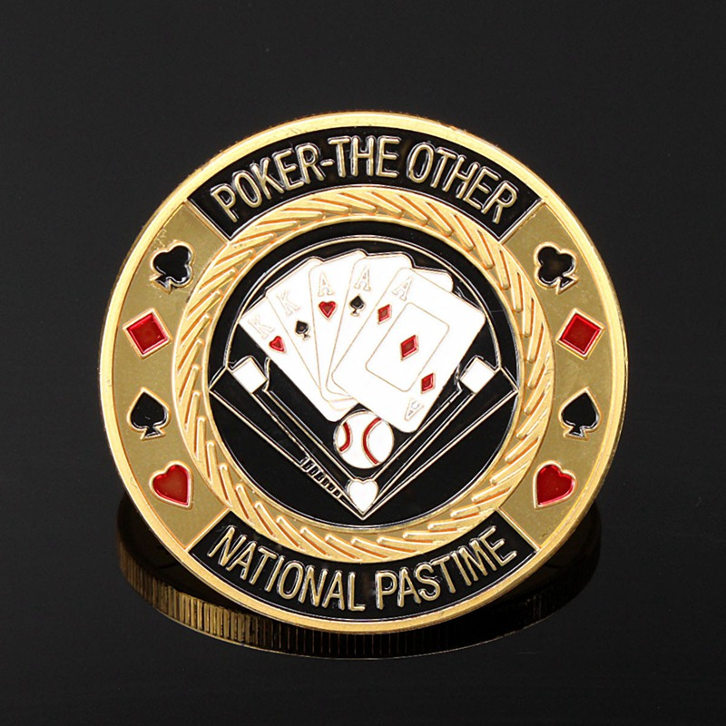 Poker Chips Metal Poker Card Guard Protector Im Not Luck I Am So Good Gold Plated With Round Plastic Box Metal Craft Poker Chips Poker Game Gambling
