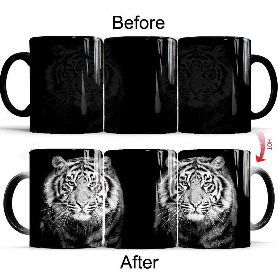 cool tiger Mug 11oz Color Changing Coffee Mug Best Gift for Your boy freind father dad gift  Mug Drop Shipping