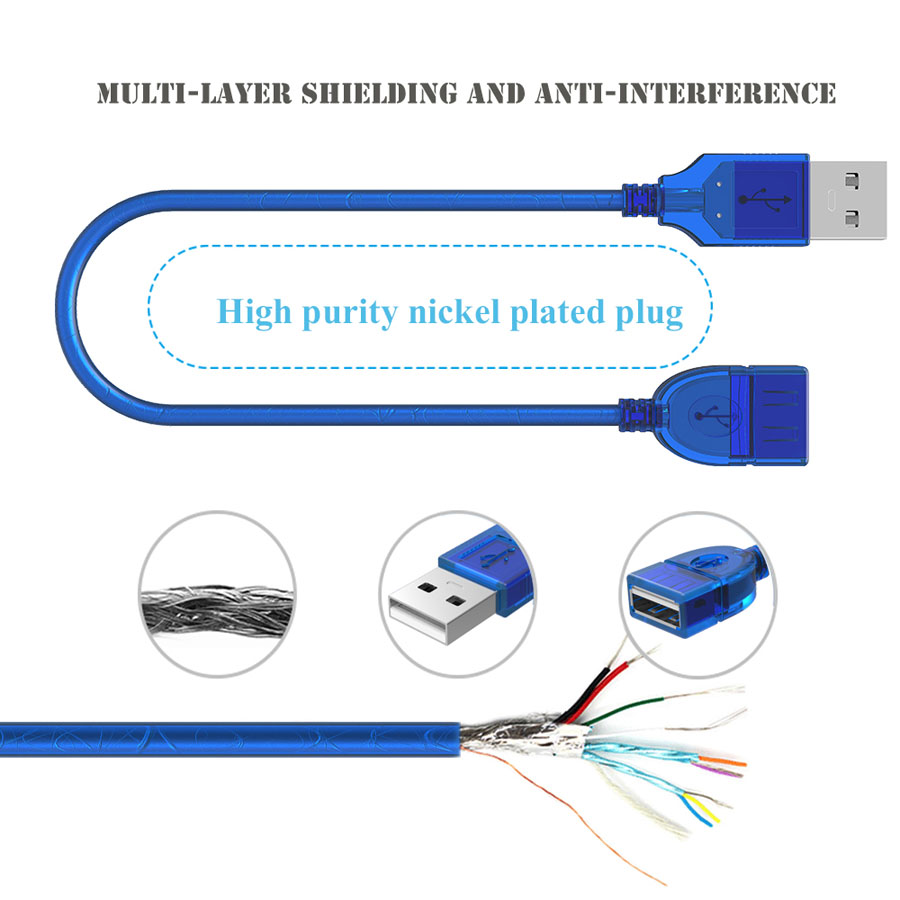 hight resolution of usb 2 0 extension cable male to female usb cables extend cord with magnetic ring for laptop keyboard camera super speed extender in camera cable from