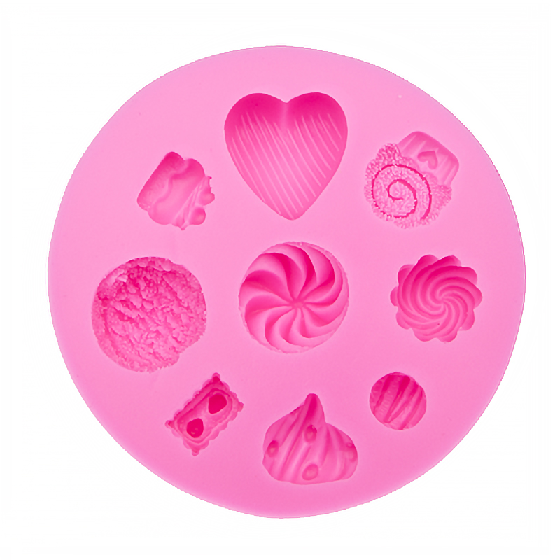 3D Reverse sugar molding Cartoon appear Food Grade silicone mould for kitchen polymer clay moulds cake decorating tools FT-0081