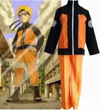 Взрослый Хэллоуин костюмы Узумаки Наруто косплей костюм для мужчин аниме одежда куртка