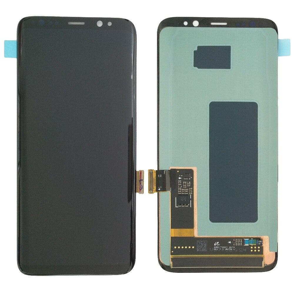 S8 LCD mit Rahmen Ersatz für SAMSUNG Galaxy S8 G950 G950F Display S8 Plus G955 G955F Touchscreen Digitizer