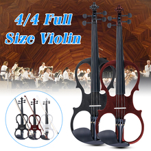 4/4 электрическая акустическая скрипка липа скрипка с Скрипка чехол бант канифоль для музыкальных струнных инструментов любителей начинающих