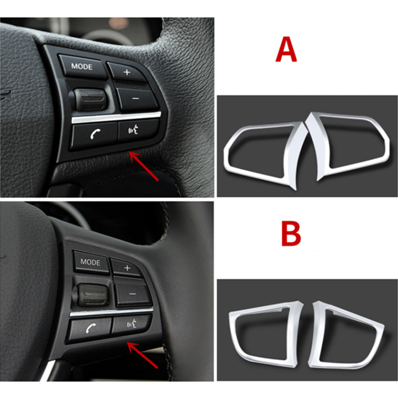 Car Styling Steering Wheel Buttons Decoration Frame Cover Trim For BMW 5/7 Series F10 F18 F01 Chrome Interior Accessories Decals