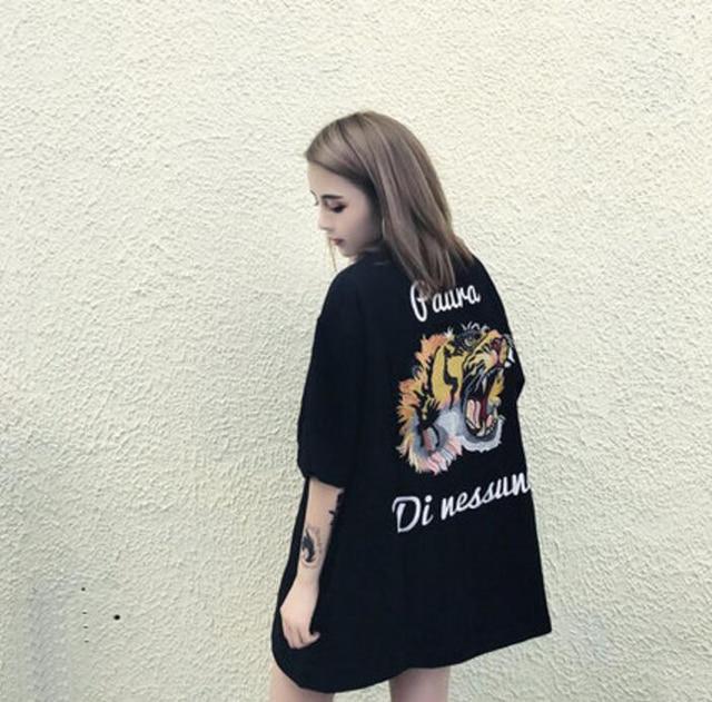 1a707886c Casais Marca de moda T-shirt Nova Chegada do Verão Ulzzang Coreano T-shirt