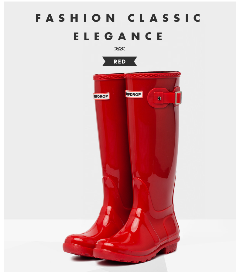 Waterproof Rain Boots Knee-high Women PVC Rubber Snow Boots